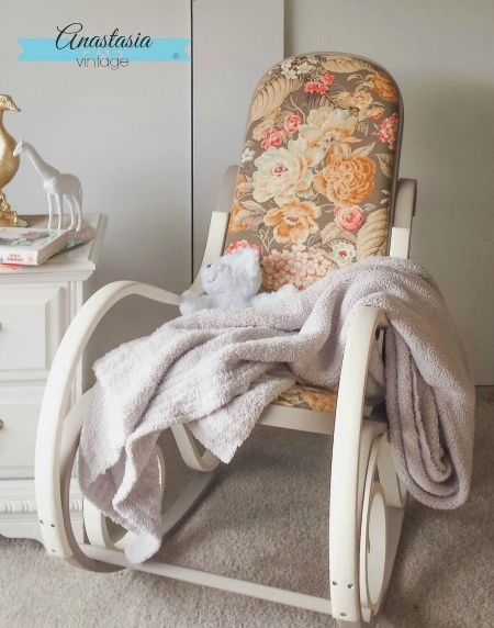Bentwood Rocking Chair Makeover - by Anastasia Vintage