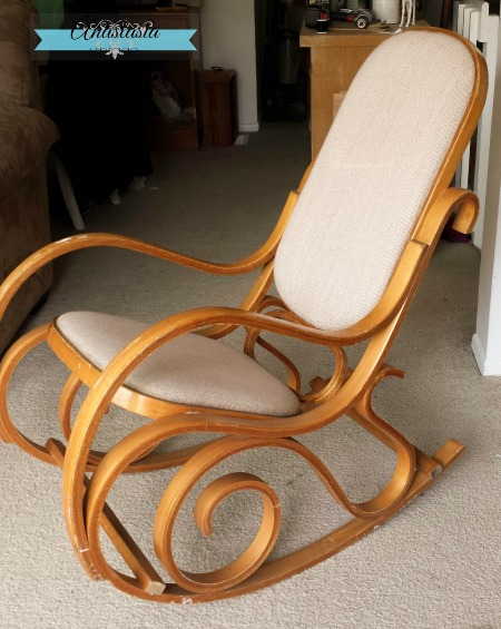 (Before) Bentwood Rocking Chair Makeover - by Anastasia Vintage