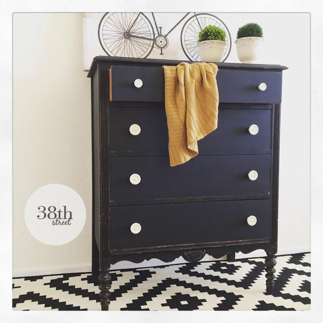 Modern Vintage Dresser Makeover - by Thirty Eighth Street