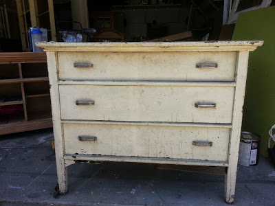 (Before) Antique chest makeover, stripped and stained - by Start at Home