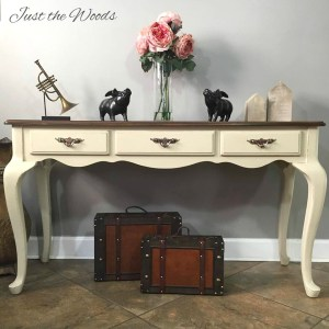 Stained and Stenciled Sofa Table