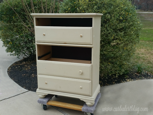 (Before) Trash to Treasure Dresser Makeover - by Curb Alert