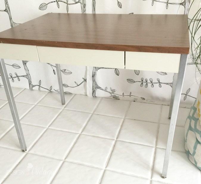 (Before) Kate Spade Inspired Desk Makeover - by Design It Vintage