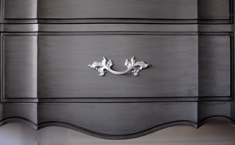 Gray Glazed French Provincial Dresser Makeover - by The Wood Spa