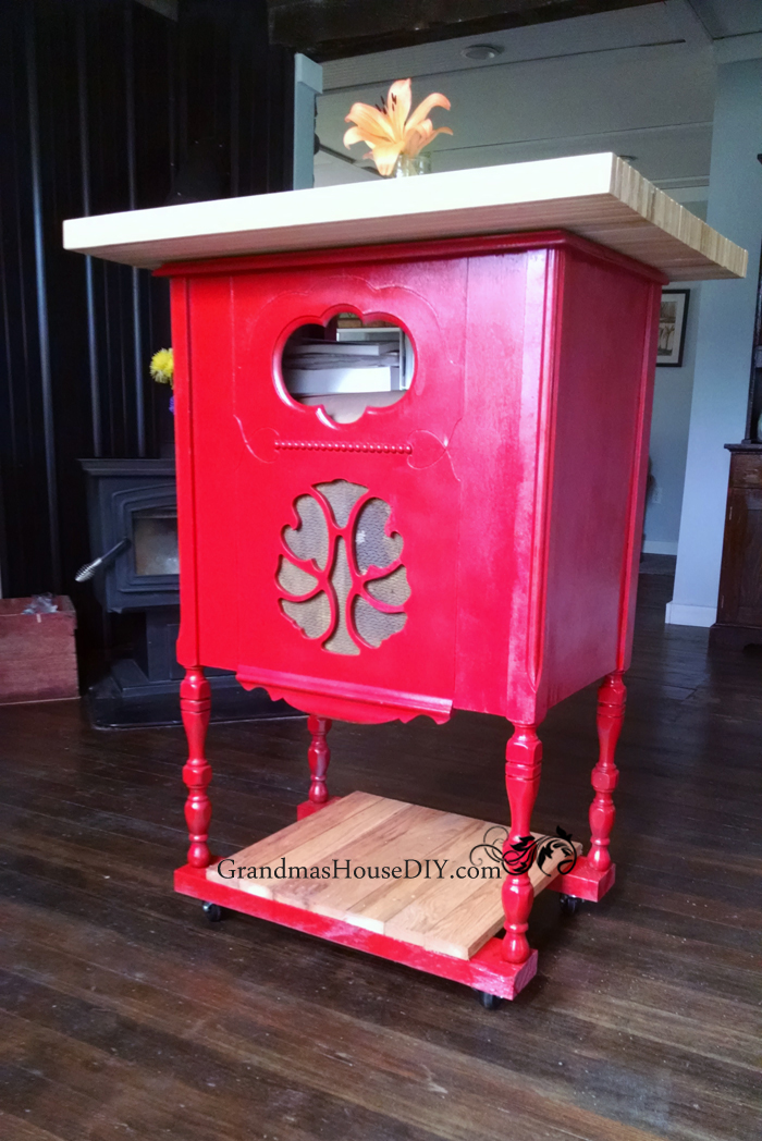 Antique Radio Cabinet to DIY Kitchen Island - by Grandma's House DIY