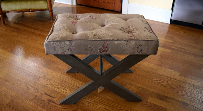 (Bench) Anthropologie Inspired Glamorous Bench Makeover - by Nourish and Nestle