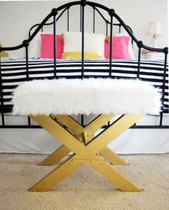 Anthro Inspired Fluffy Bench