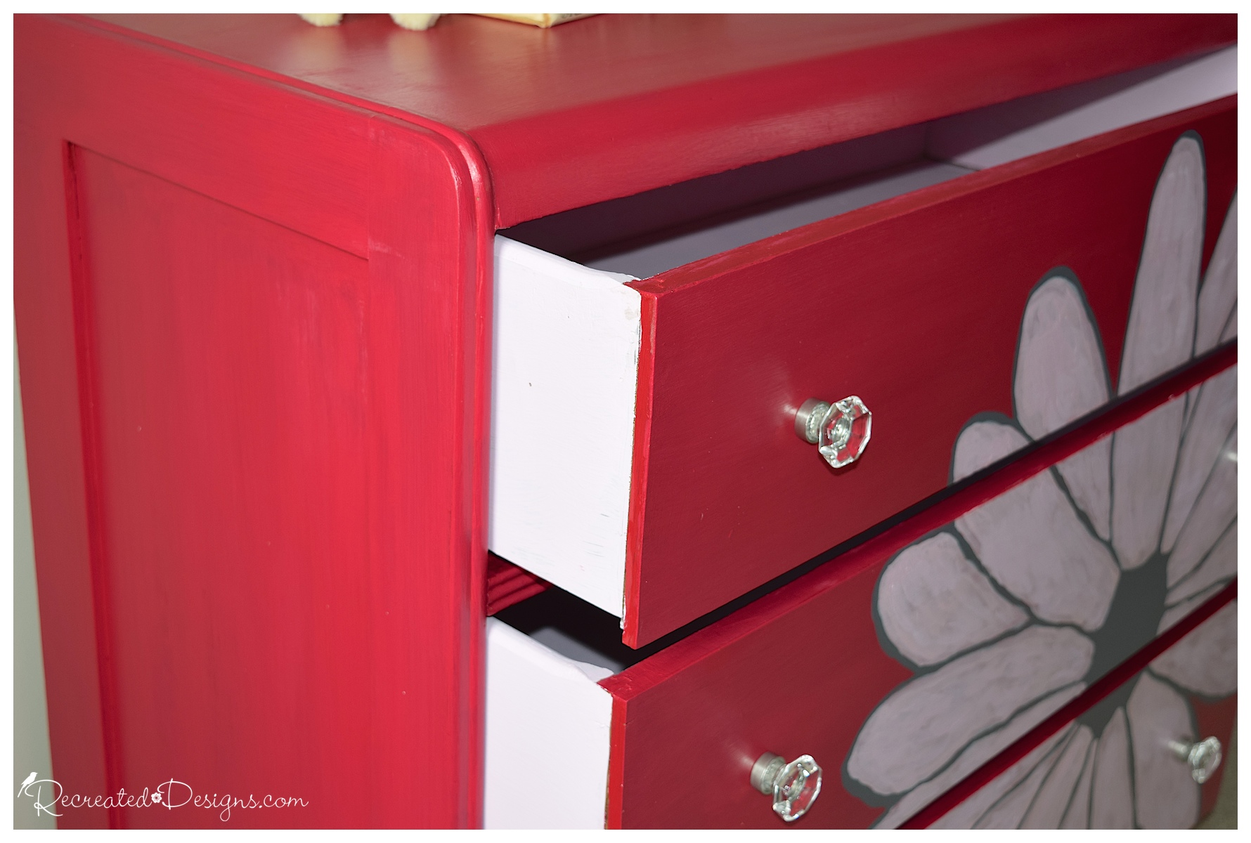 Flower Power Dresser Makeover by Recreated Designs