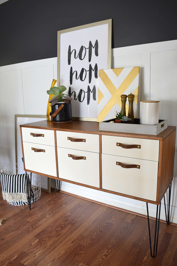 Midcentury Modern Credenza Makeover - by Houseologie