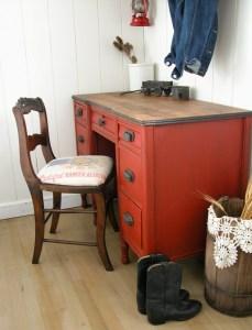 Branded Red Desk