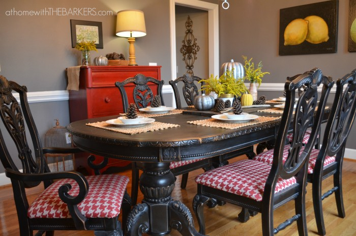 Dramatic Dining Set Makeover - by At Home With The Barkers