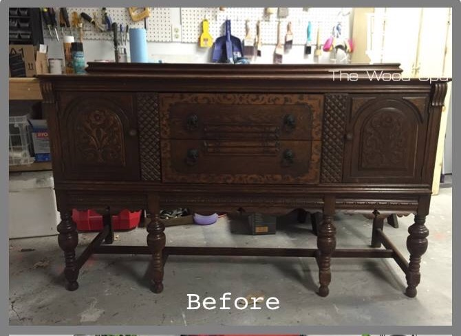 (Before) Powerful Punch of Pink: Buffet Makeover by The Wood Spa