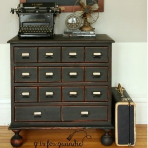 Faux Card Catalog