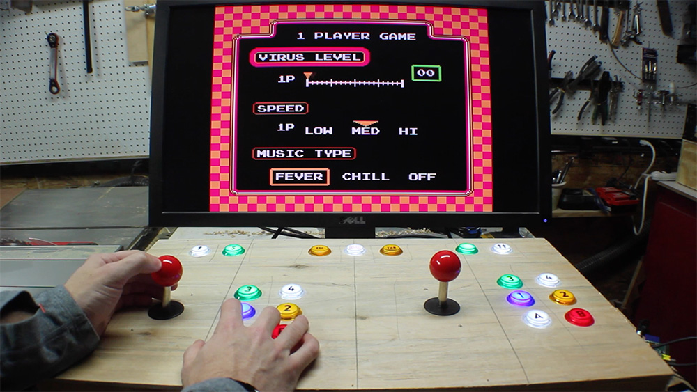 Raspberry Pi arcade machine screen 1