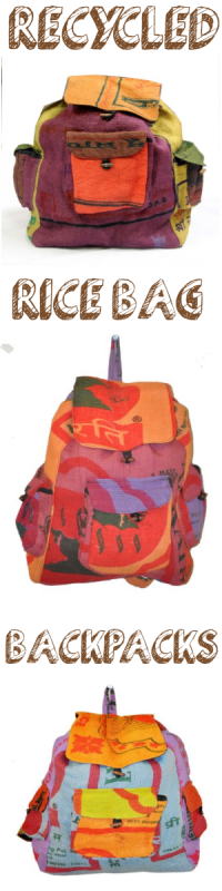 Recycled Rice Bag Backpack