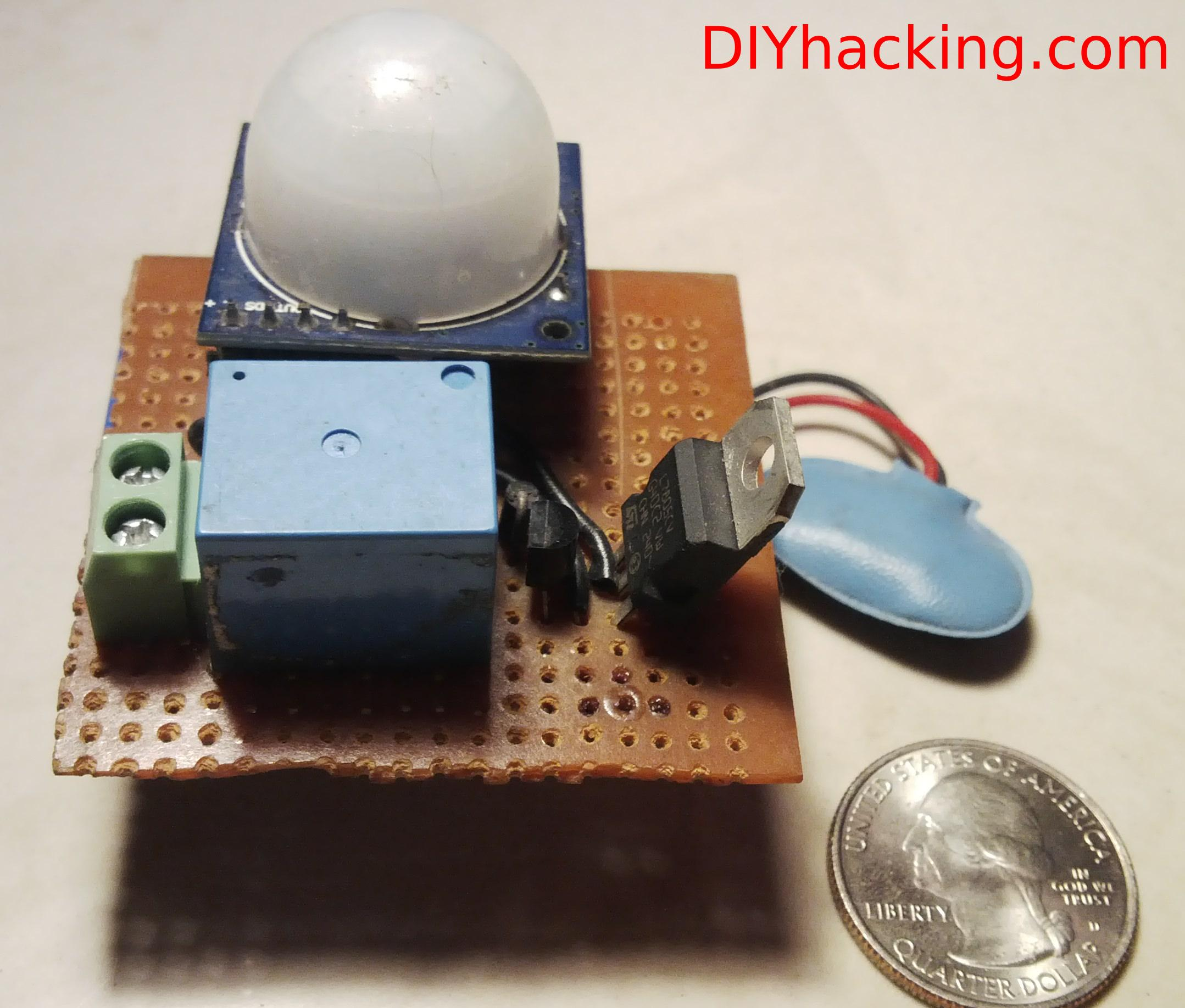 Beginner Project 2home Automation Using Pir Motion Sensor Diagram Tutorial Diy Hacking