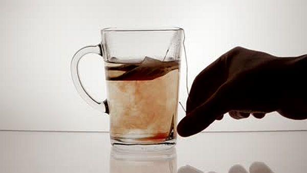 soak a tea bag in water
