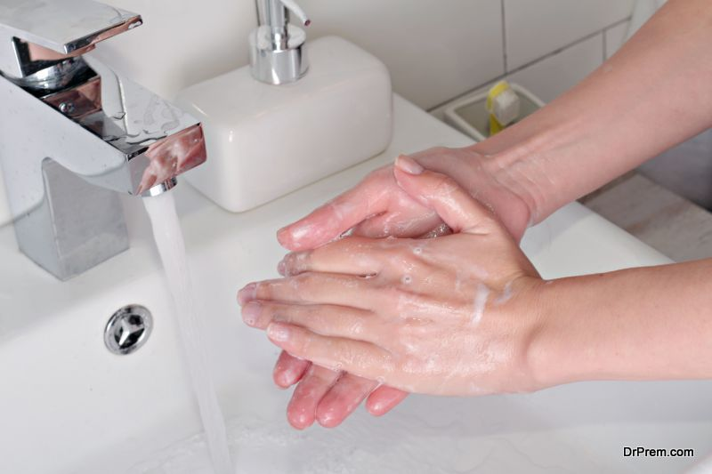 Washing your hands
