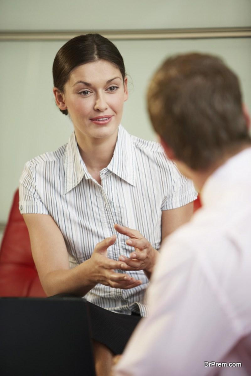 Slow talker woman