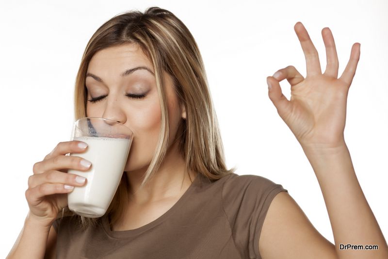 Consumption of a good amount of milk and dairy products
