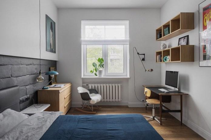 Apartamento urbano/industrial. Quarto como home office