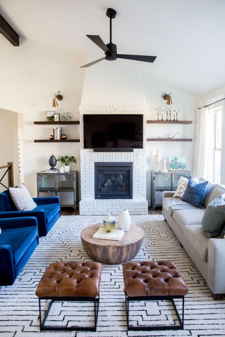 Living Room Fireplace TV Placement
