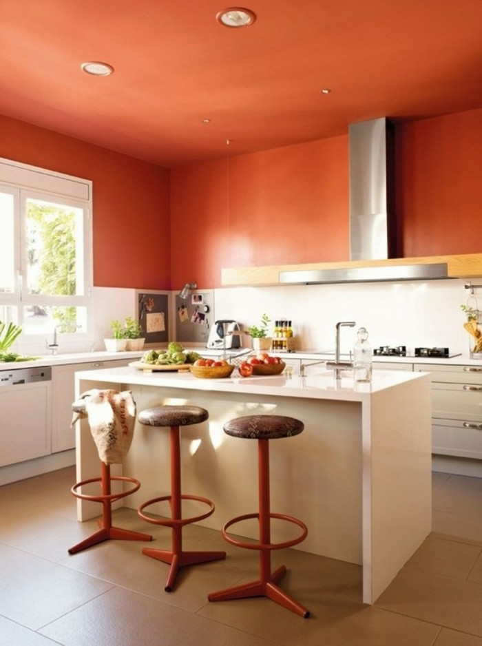 Orange Kitchen Walls