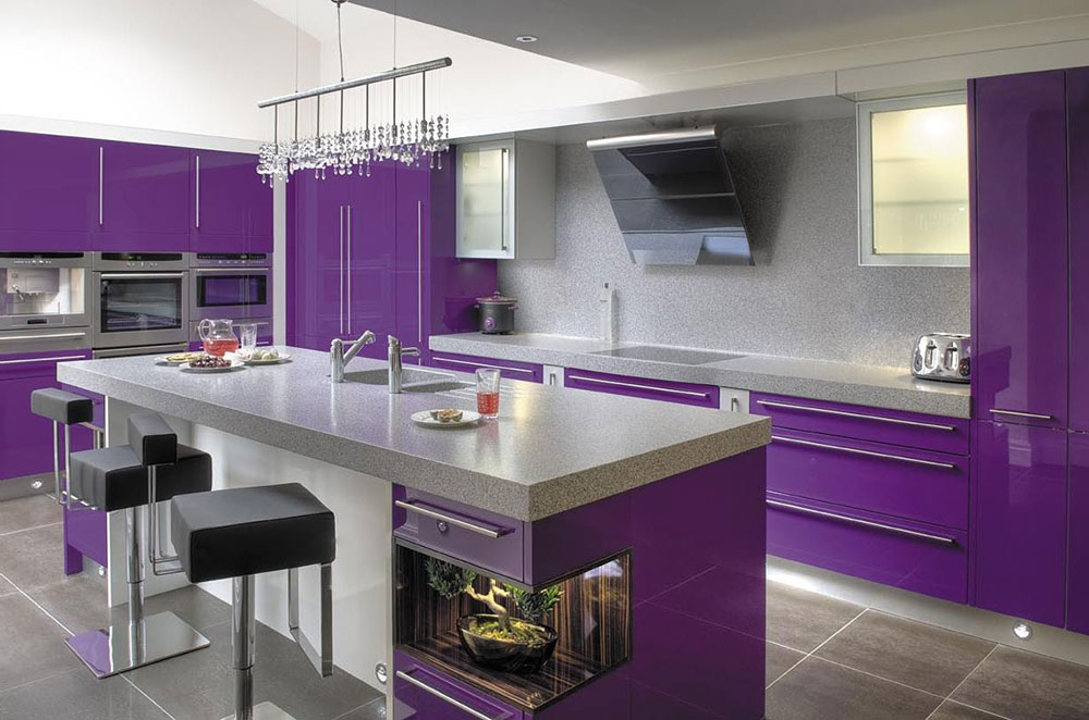scandinavian kitchen cabinets purple kitchen ideas for unique and modern look diy home 2113