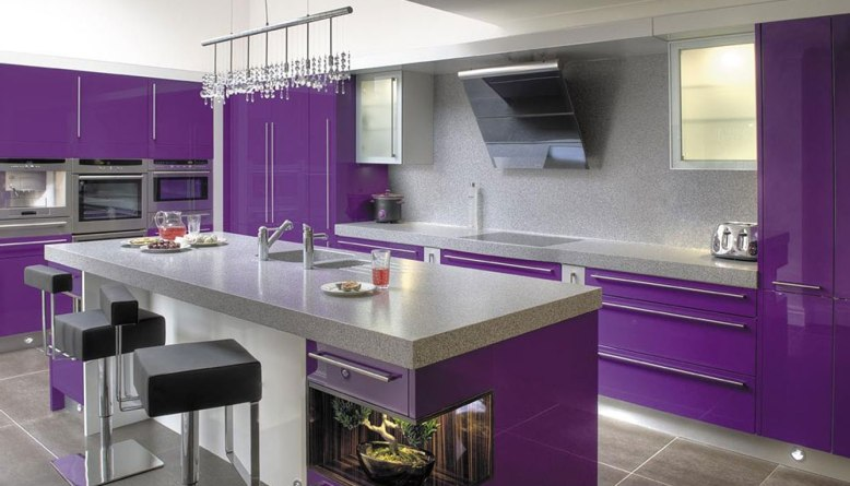 Purple Kitchen Ideas for Unique and Modern Look - DIY Home Art