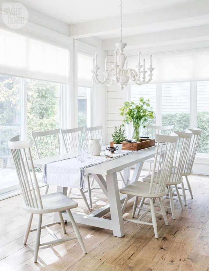 White Kitchen Table