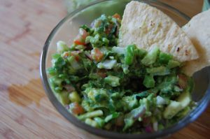 salsa bandera guacamole