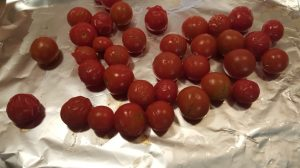 easy way to peel cherry tomatoes