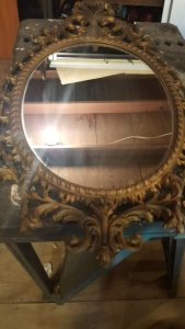 how to refinish a vintage mirror