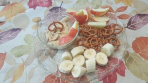 Peanut Butter Fruit and Pretzel Dip
