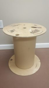 Wooden spool upcycled