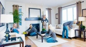 speed-clean living room