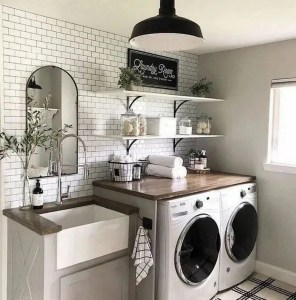 upgraded laundry room a 2020 home deocr trend