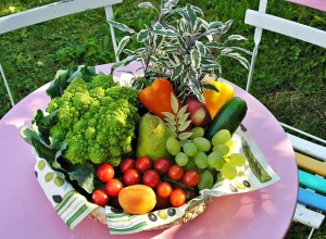 basket of fruits and vegetables
