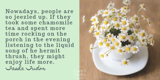 chamomile tea quote