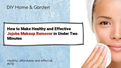 jojoba oil makeup remover