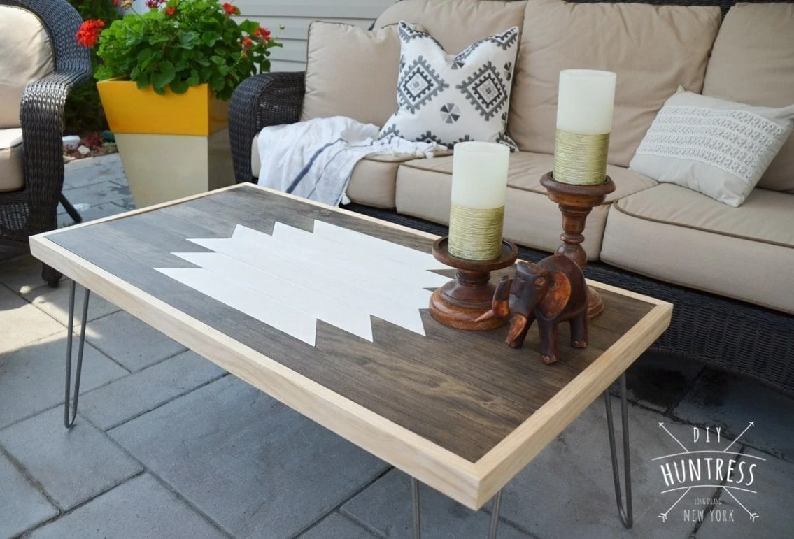 Diy Geometric Wood Art Table Diy Huntress