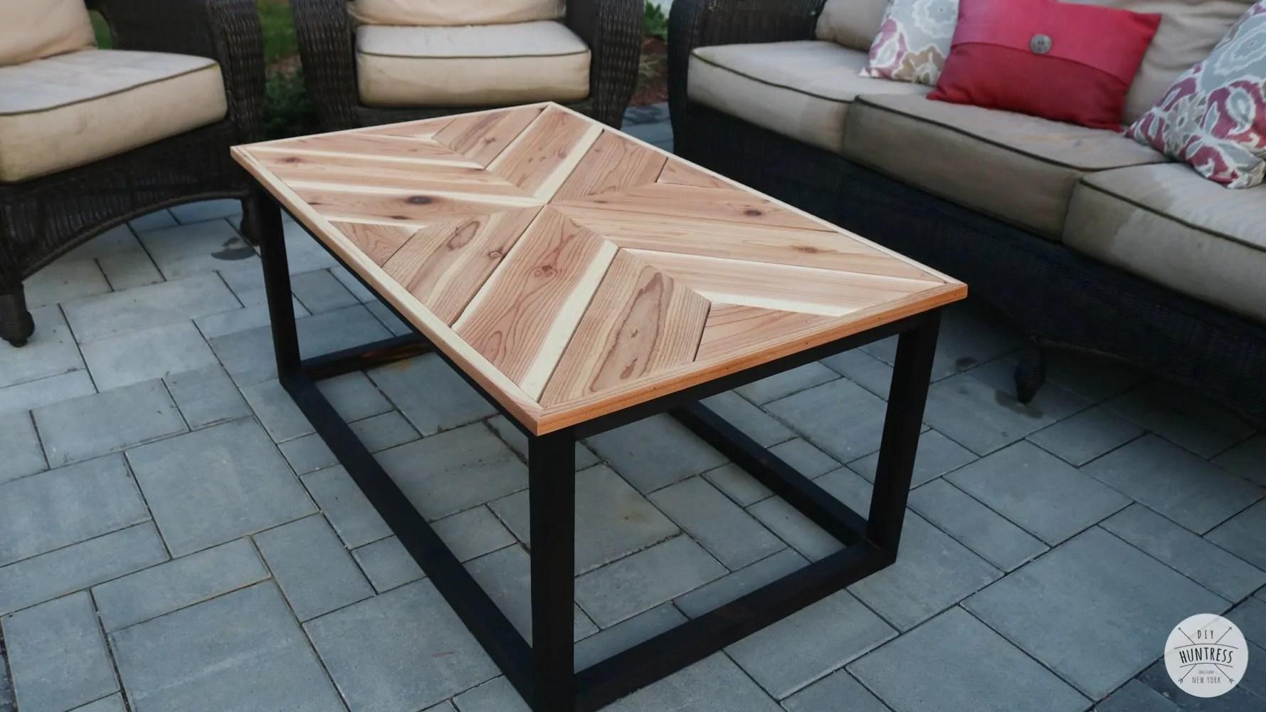 diy outdoor chevron coffee table diy