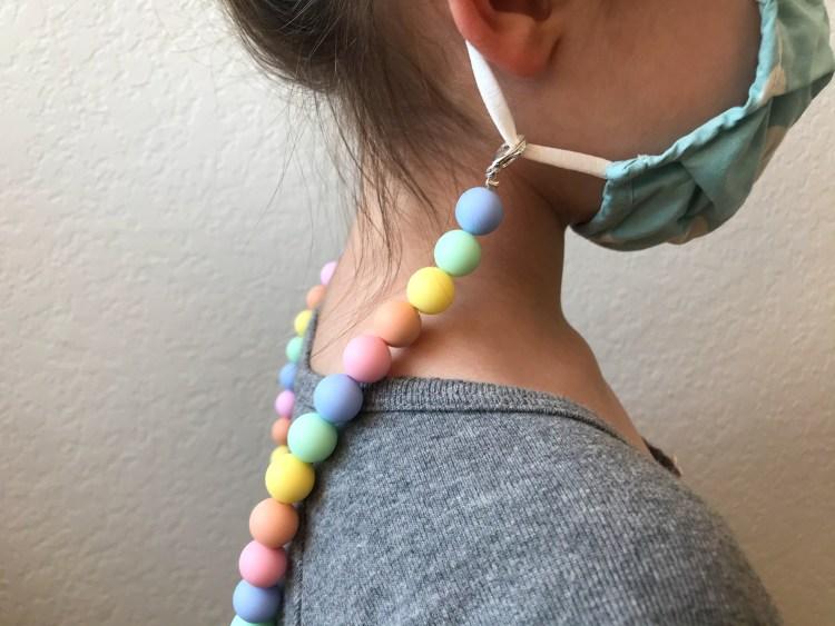 DIY Pastel Rainbow Mask Chain
