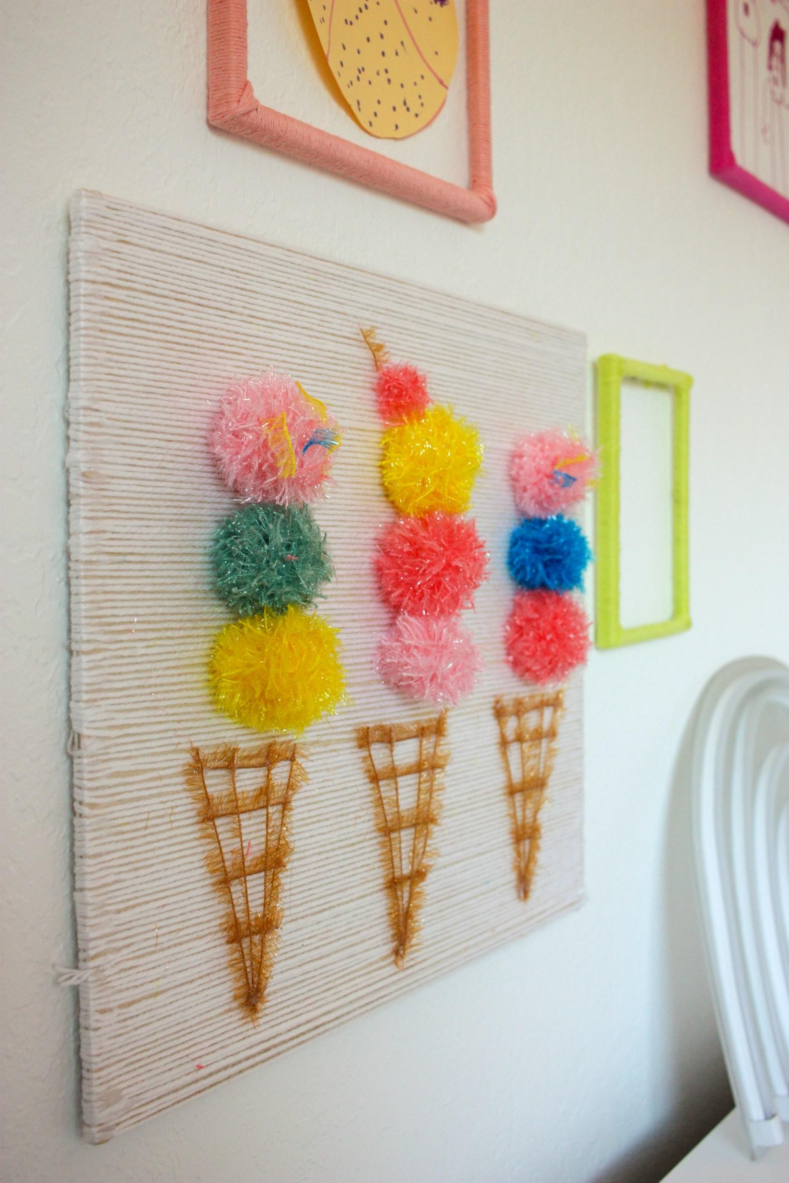 DIY Ice Cream Wall Art
