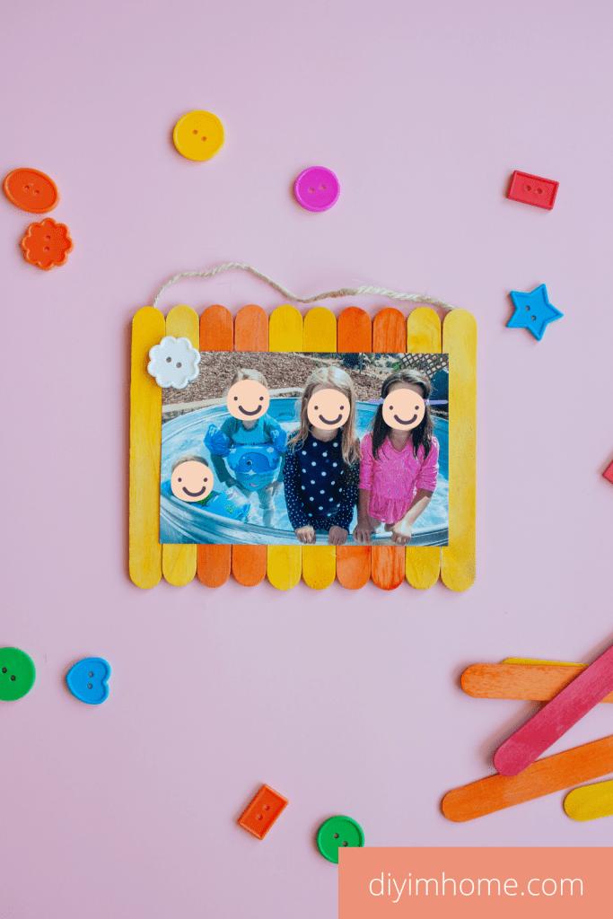 DIY Popsicle Stick Photo Frame
