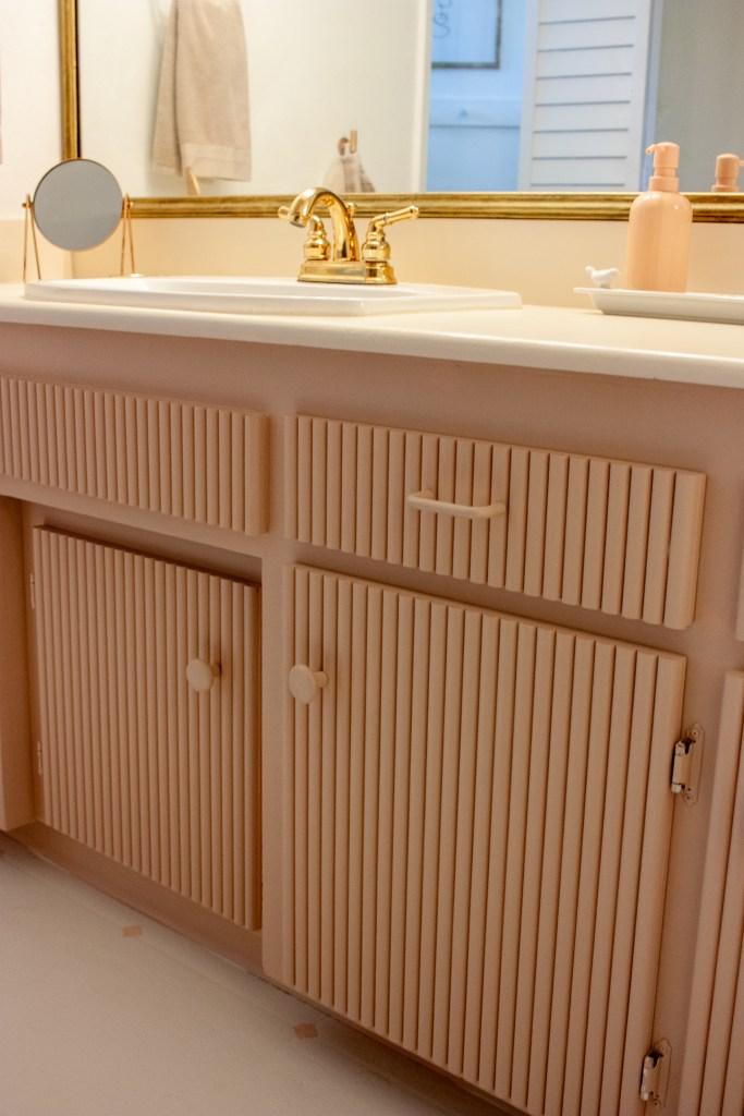 DIY Fluted Cabinet Doors