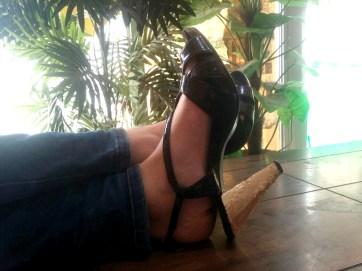 DIY Gold Gilded Heels