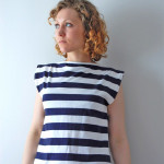 Striped Boat Neck Shirt