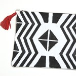 DIY Geometric Print Clutch