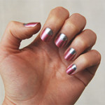 Two-Tone Glitter Nails